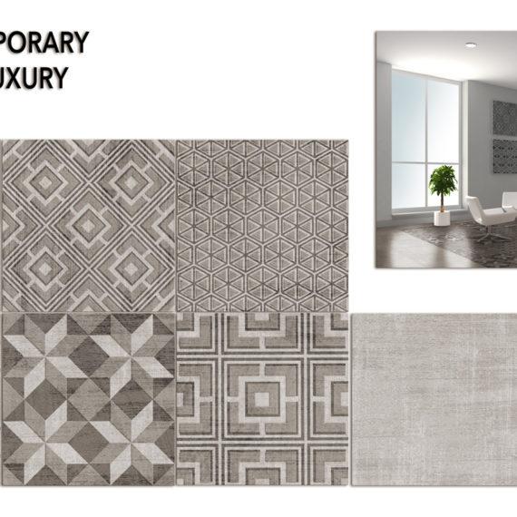 design ceramico pavimento geometrico