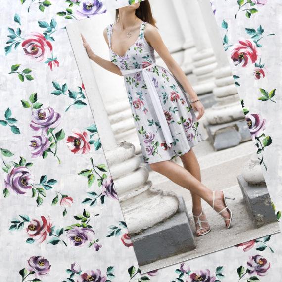 textile design floreal style
