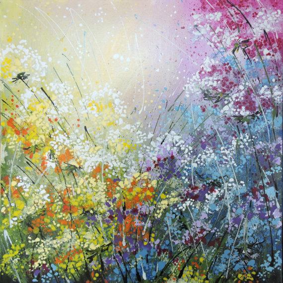 Impressioni di Aprile - 60x60 - dipinto di Silvia Tassoni
