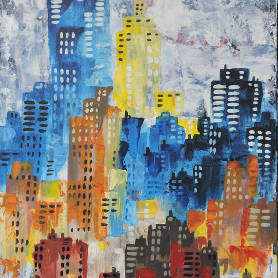 Color in the City 50x70 - SIlvia Tassoni