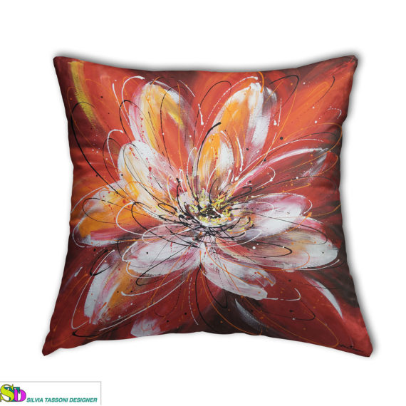 pillows textile design floreal style