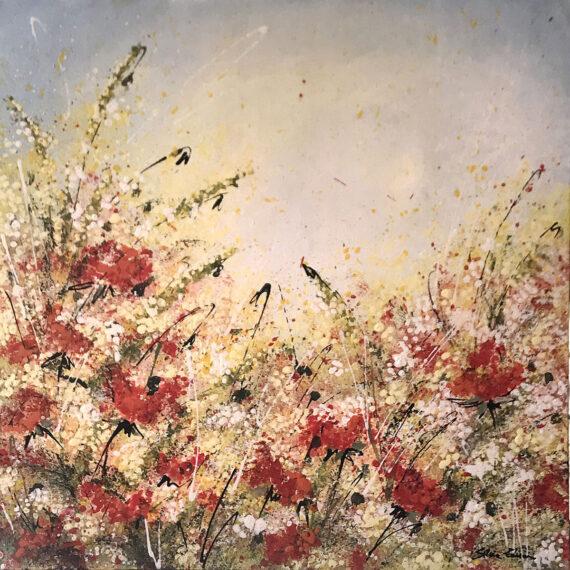 Impressioni d'Agosto 50x50 - dipinto di Silvia Tassoni