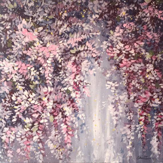 Impressioni di Maggio 50x50 - dipinto di Silvia Tassoni