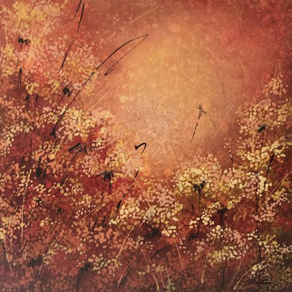 Impressioni di Novembre 50x50 - dipinto di Silvia Tassoni