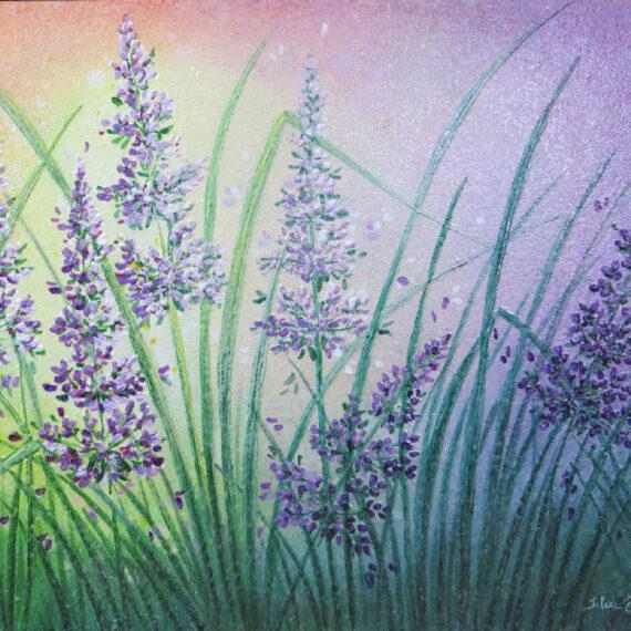 Salceralla di primavera 40x50 - dipinto di Silvia Tassoni