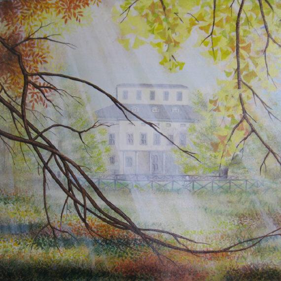 Campagna 100x70 - dipinto di Silvia Tassoni