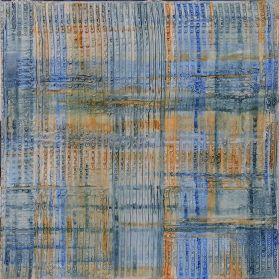 Geometrie e Materia 60x60 - dipinto di Silvia Tassoni