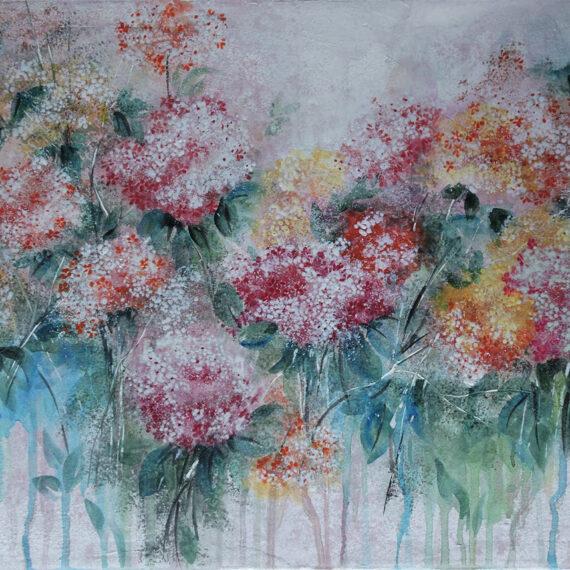 Ortensie 50x60 - dipinto di Silvia Tassoni